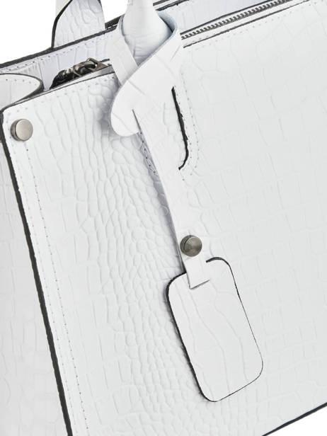Sac à Main Croco Cuir Milano Blanc croco CR16062N vue secondaire 1