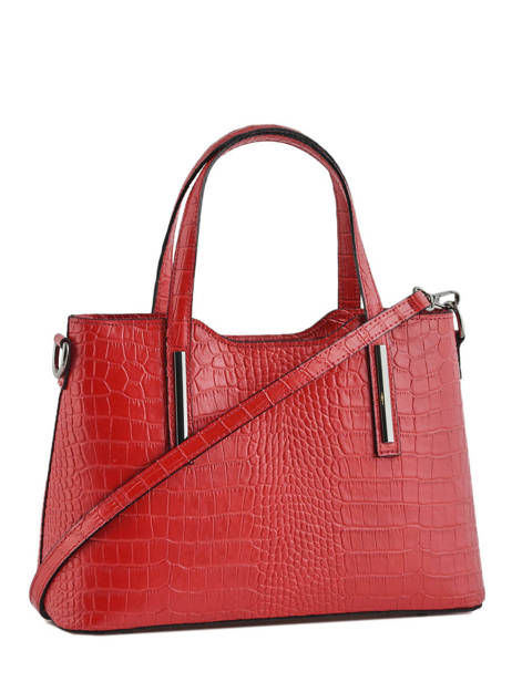 Sac à Main Croco Cuir Milano Rouge croco CR15116N vue secondaire 2