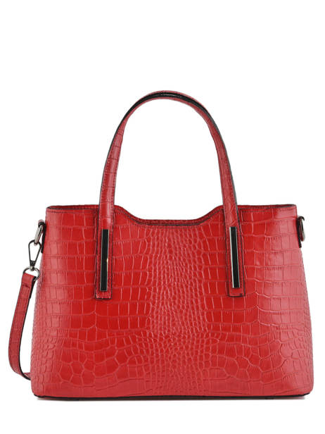 Sac à Main Croco Cuir Milano Rouge croco CR15116N
