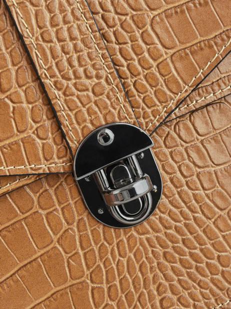 Cross Body Tas Croco Leder Milano Bruin croco CR19062N ander zicht 1