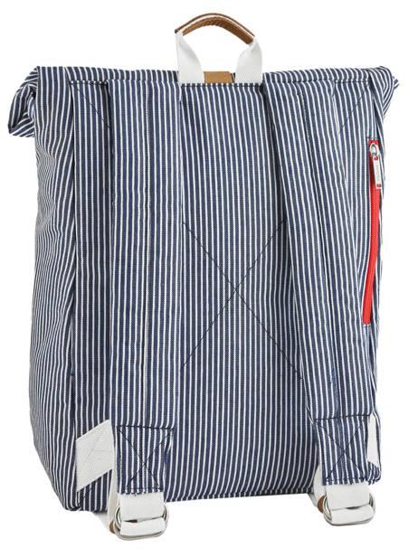 Sac à Dos Tricolor Faguo Noir stripes denim 20LU0101 vue secondaire 3