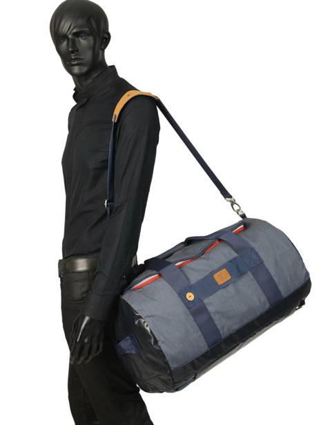 Reistas Handbagage Tricolor Faguo Blauw tricolor 20LU0909 ander zicht 2