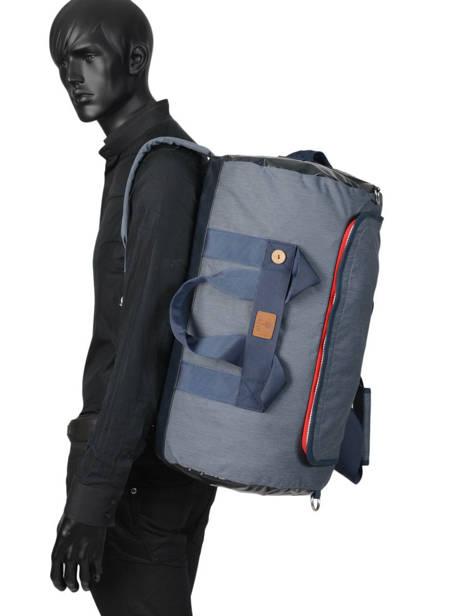 Reistas Handbagage Tricolor Faguo Blauw tricolor 20LU0909 ander zicht 3