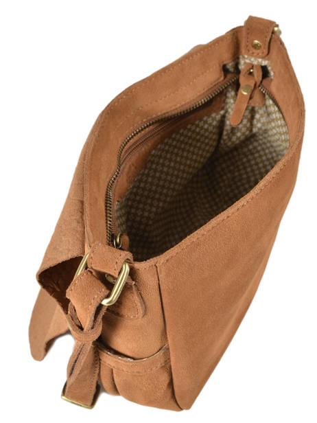 Cross Body Tas Vintage Leder Mila louise Bruin vintage 3017VBS ander zicht 4