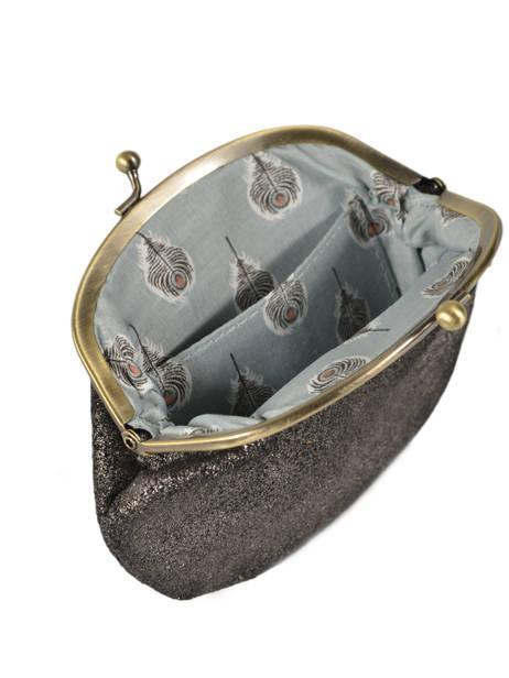 Portemonnee Leder Mila louise Zwart vintage 3304S ander zicht 1