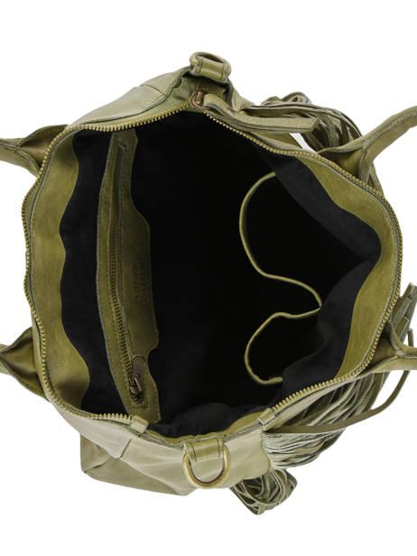 Schoudertas Fringes Leder Basilic pepper Groen fringues BFRI01 ander zicht 4
