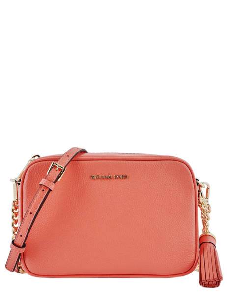 Cross Body Tas Ginny Leder Michael kors Roze crossbodies F7GGNM8L