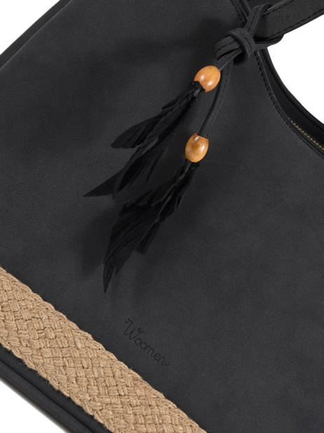 Schoudertas Anemone Woomen Zwart anemone WANE03 ander zicht 1