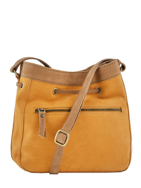 Sac Bourse Tornade Cuir Etrier Orange tornade ETOR07 vue secondaire 4