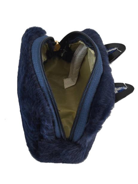Portemonnee Cat's Eyes Miniprix Blauw cat 78-B7 ander zicht 1