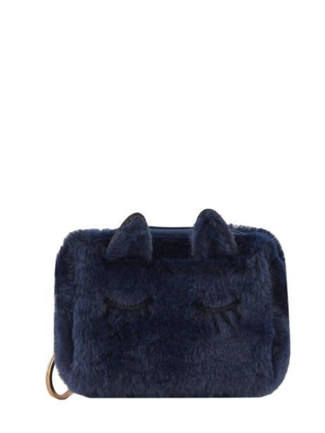 Portemonnee Cat's Eyes Miniprix Blauw cat 78-B7