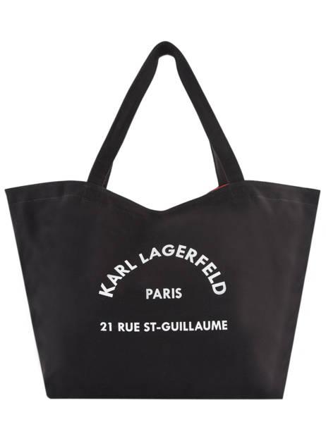Sac Shopping Rue St Guillaume Canvas Karl lagerfeld Noir rue st guillaume 201W3138