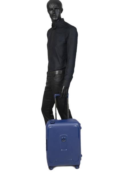 Handbagage Delsey Blauw moncey 3844803B ander zicht 3