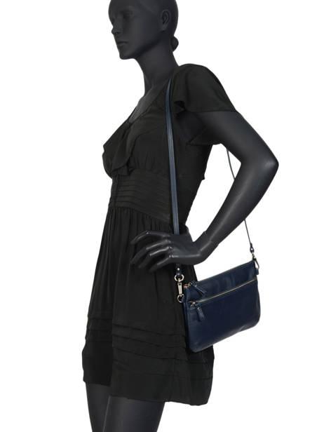 Cross Body Tas Vintage Leder Nat et nin Blauw vintage VICKY ander zicht 2