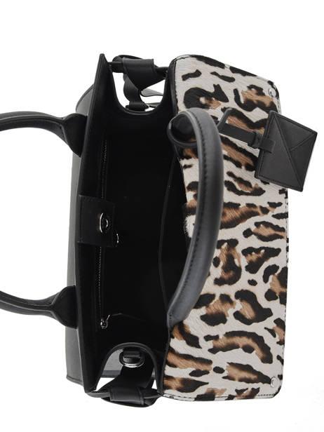 Sac Porté Main K Ikon Leopard Cuir Karl lagerfeld Noir k icon 201W3030 vue secondaire 4