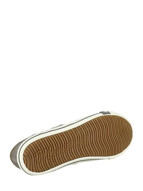 Baskets Toile Mustang Gris baskets mode 1099302 vue secondaire 5