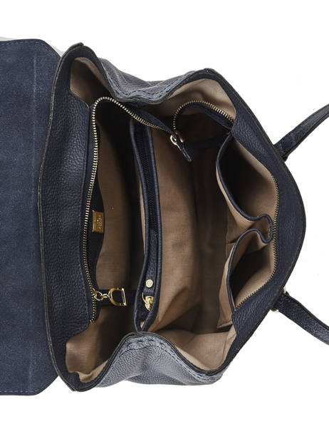 Sac Shopping Tradition Cuir Etrier Bleu tradition EHER27 vue secondaire 4