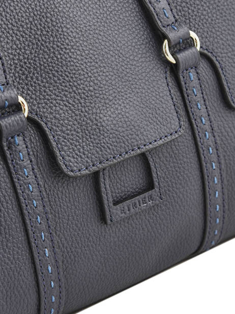 Sac Shopping Tradition Cuir Etrier Bleu tradition EHER27 vue secondaire 1