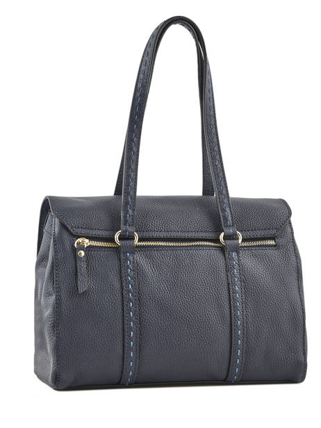 Sac Shopping Tradition Cuir Etrier Bleu tradition EHER27 vue secondaire 3