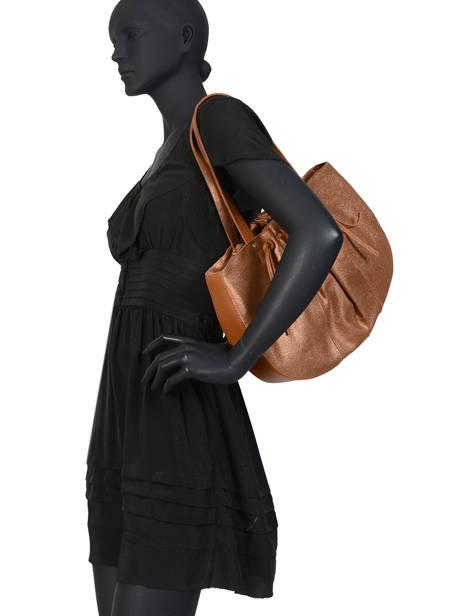 Schoudertas Vintage Leder Mila louise Bruin vintage 3374CHG ander zicht 2