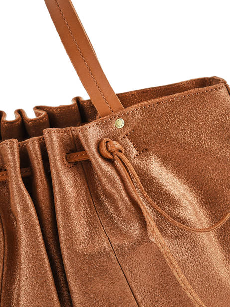 Schoudertas Vintage Leder Mila louise Bruin vintage 3374CHG ander zicht 1