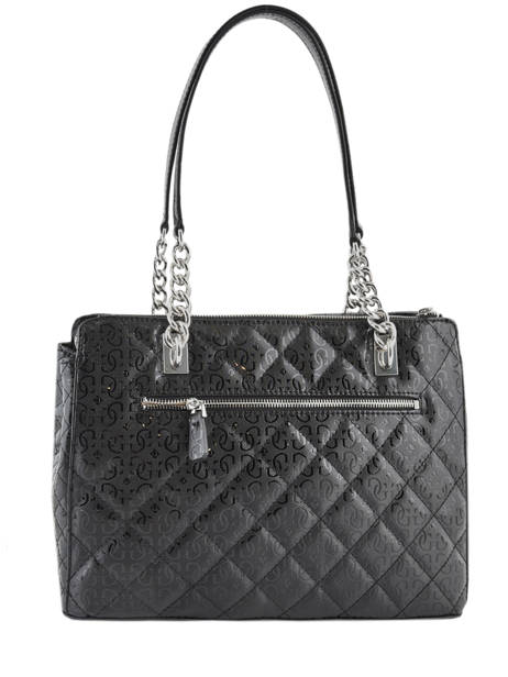 Sac Shopping Queenie Guess Noir quennie SY766609 vue secondaire 3