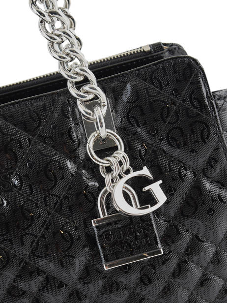 Sac Shopping Queenie Guess Noir quennie SY766609 vue secondaire 1