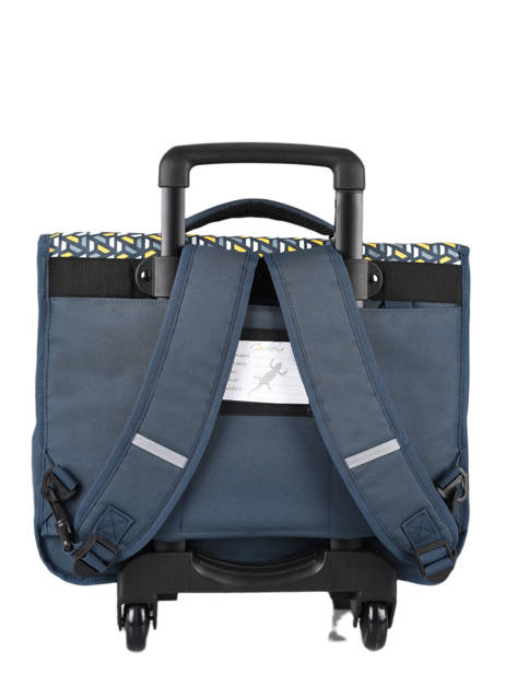 Cartable à Roulettes Enfant 3 Compartiments Cameleon Bleu basic BAS-CR41 vue secondaire 4