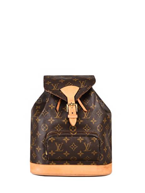 Preloved Louis Vuitton Rugzak Montsouris Monogram Brand connection Bruin louis vuitton 134