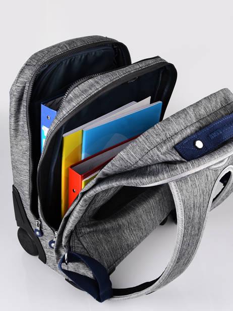 Rugzak Op Wieltjes Sari 1 Compartiment Kipling Grijs back to school / pbg PBGI2549 ander zicht 3