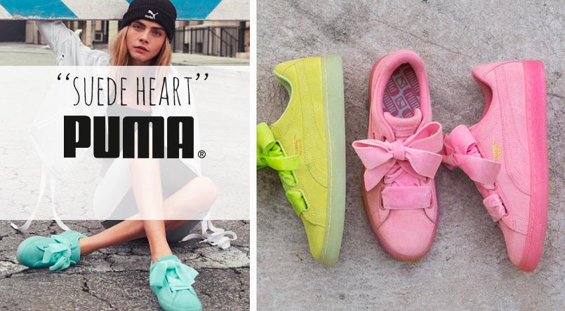 puma heart suede