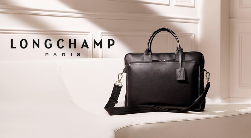sacs business longchamp cuir