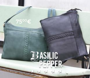 handtassen leer basilic pepper